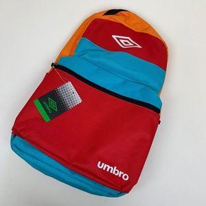 Umbro Block Bag Backpack Bookbag Bright Combo